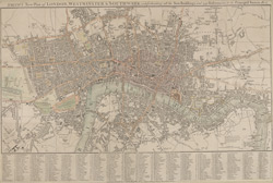 Smith's new plan of London, Westminster & Southwark; comprehending all the new buildings and 350 references to the principal streets 1807